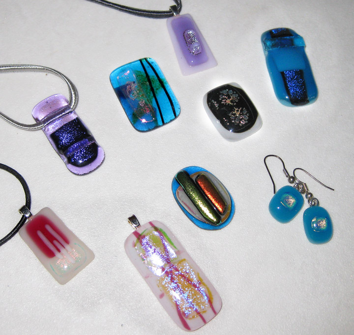 Fused Glass jewellery making course dates | Glass Jewels